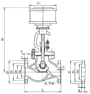 气动截止阀结构图