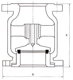 H42立式止回阀结构图